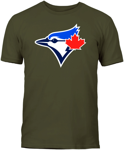 Toronto Blue Jays Secondary Logo Olive T-Shirt by Bulletin