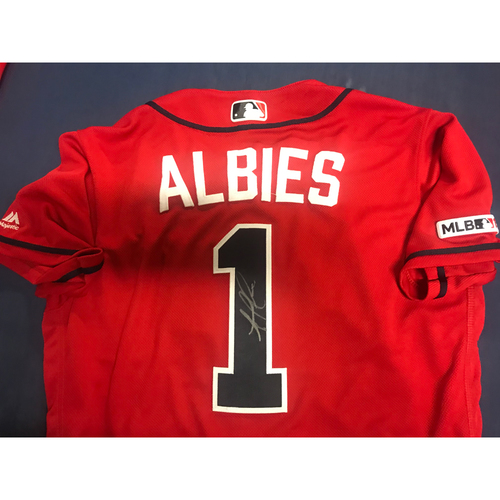 Photo of Ozzie Albies Game-Used Autographed Jersey