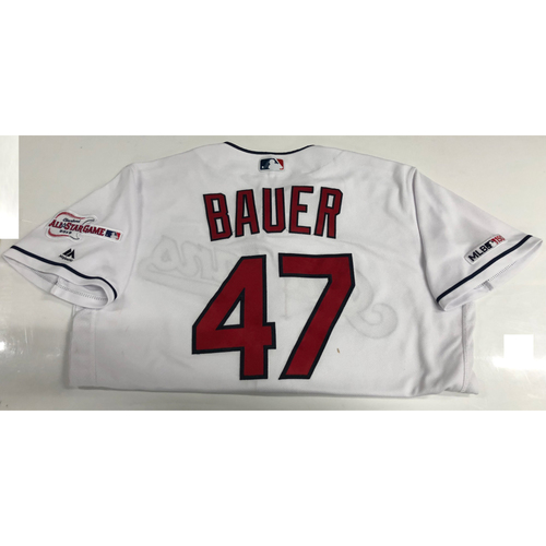 Photo of Trevor Bauer Game Used Jersey 4/4/19 (7 Hitless Innings)