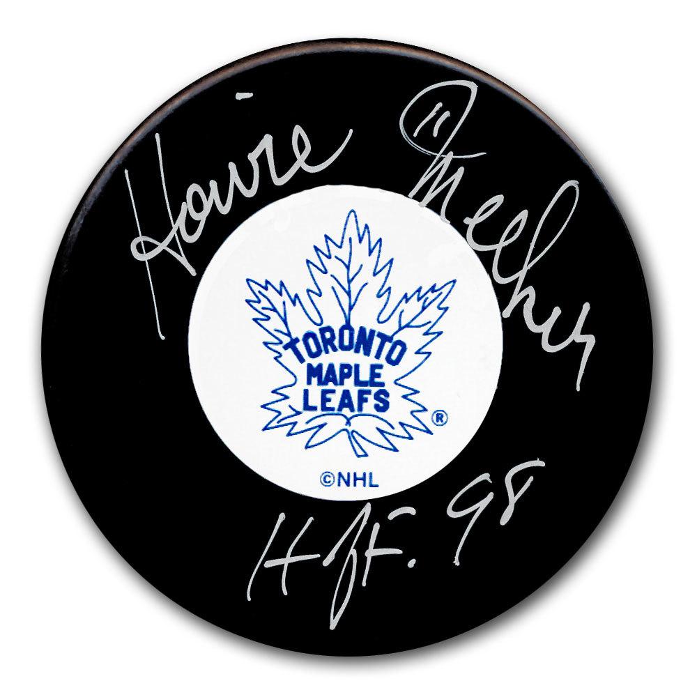 Howie Meeker Toronto Maple Leafs HOF Autographed Puck