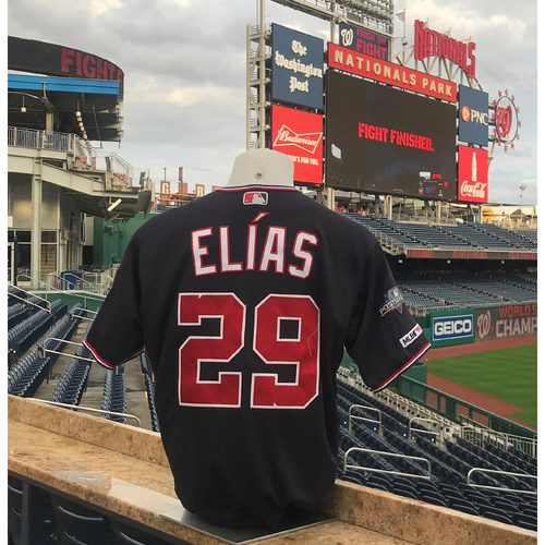 Photo of 2019 NLCS Game-Used Jersey: Roenis Elias