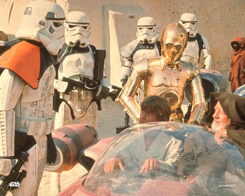 Obi-Wan Kenobi, Luke Skywalker and C-3PO