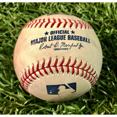 Photo of Game Used Baseball: Shohei Ohtani Cycle Game - Tommy La Stella double off Ryan Yarbrough - June 13, 2019 v LAA
