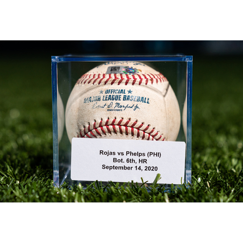 Photo of Promote the Vote: Game Used Baseball: Miguel Rojas - Home Run