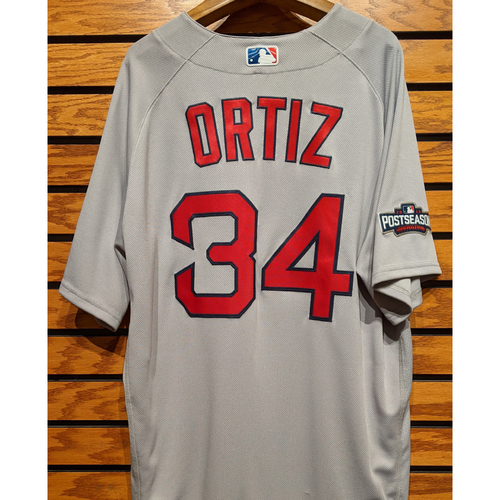 Photo of David Ortiz #34 Team Issued Road Gray Jersey