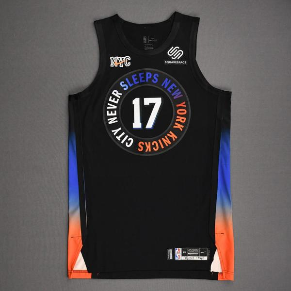 Image of Ignas Brazdeikis - New York Knicks - Game-Worn City Edition Jersey - Dressed, Did Not Play (DNP) - 2020-21 NBA Season
