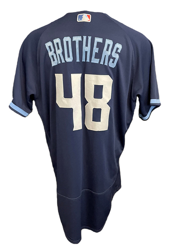 Photo of Rex Brothers Game-Used Jersey - City Connect - Cardinals vs. Cubs Game 1 of DH - 9/24/21 - Size 46