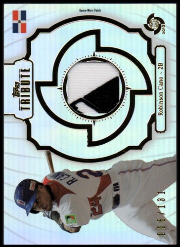 Photo of 2013 Topps Tribute WBC Prime Patches #RC Robinson Cano/131