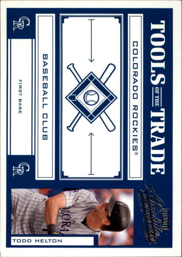 Photo of 2004 Absolute Memorabilia Tools of the Trade Blue #140 Todd Helton A