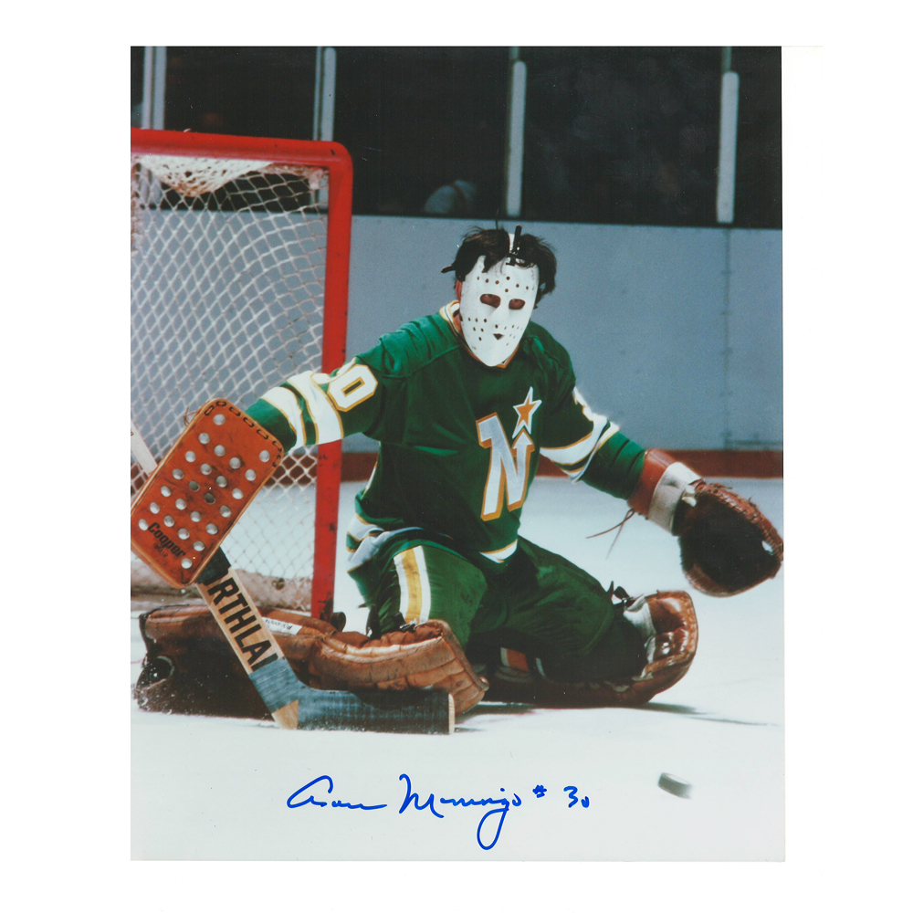 CESARE MANIAGO Signed Minnesota North Stars 8 X 10 Photo - 70209