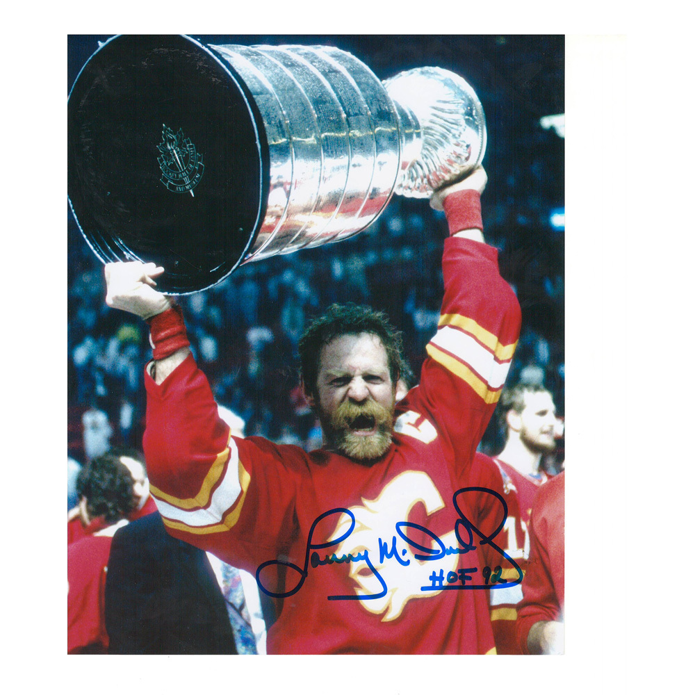 LANNY MCDONALD Signed Calgary Flames Stanley Cup Champions 8 X 10 Photo - 70341