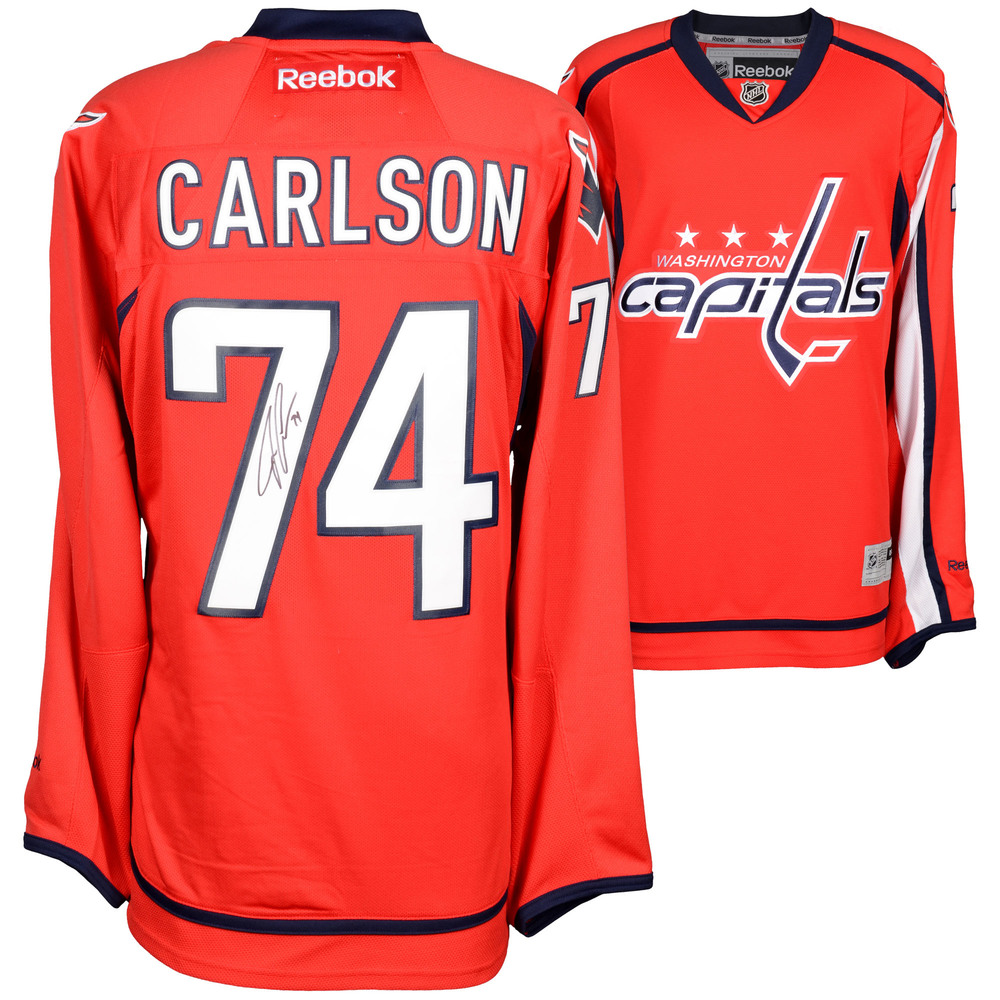 John Carlson Washington Capitals Autographed Red Reebok Premier Jersey