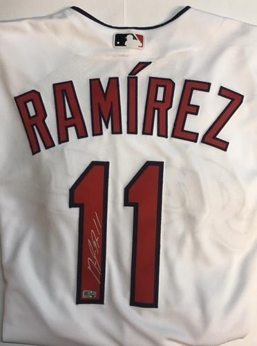 Photo of Jose Ramirez Autographed Authentic Indians Jersey