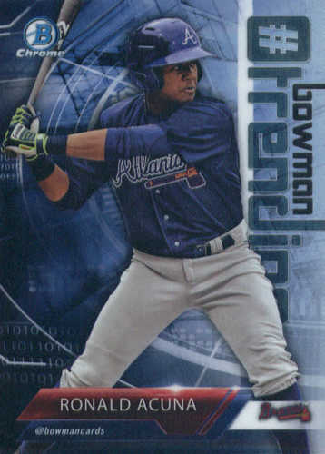 Photo of 2018 Bowman Chrome Hashtag Bowman Trending Refractors #RA Ronald Acuna