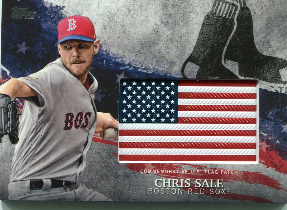 2018 Topps Independence Day U.S. Flag Relics #IDMLCA Chris Sale