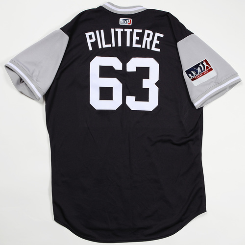 "Photo of PJ ""Pilittere"" Pilittere New York Yankees Game-Used Jersey 2018 Players' Weekend Jersey"