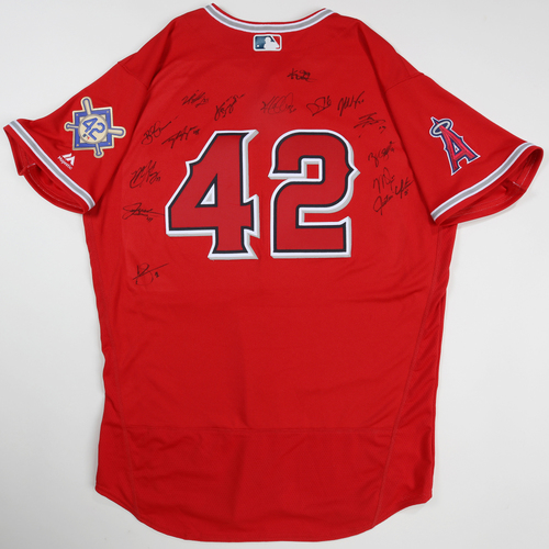 Photo of 2019 Jackie Robinson Day Jersey - Los Angeles Angels Team Autographed Jersey