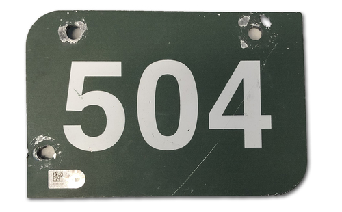 Photo of Wrigley Field Collection -- Aisle Marker 504 -- Removed after 2018 Season