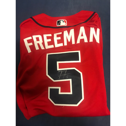 Photo of Freddie Freeman Game-Used Autographed Jersey