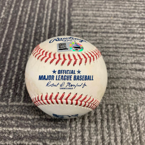 Photo of 2019 Game Used Baseball - 4/12 vs Colorado Rockies - T-4: Drew Pomeranz to Garrett Hampson - Triple to LF (2nd Career Triple) - Also Nolan Arenado Pop out and pitch to Trevor Story