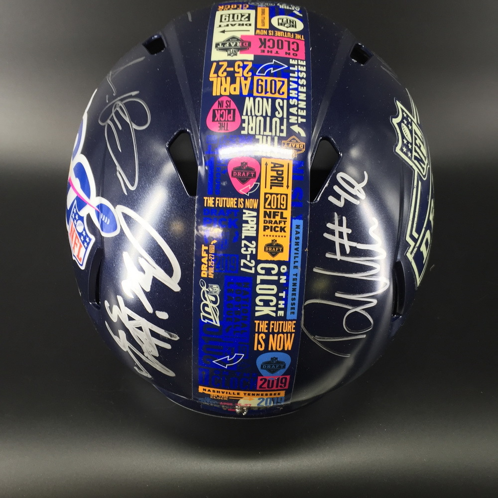 Titans - Multi Signed Draft 2019 Helmet Signed by draft class Including AJ Brown, Nate Davis, Jeffery Simmons, Amani Hooker, Deandre Walker, David Long