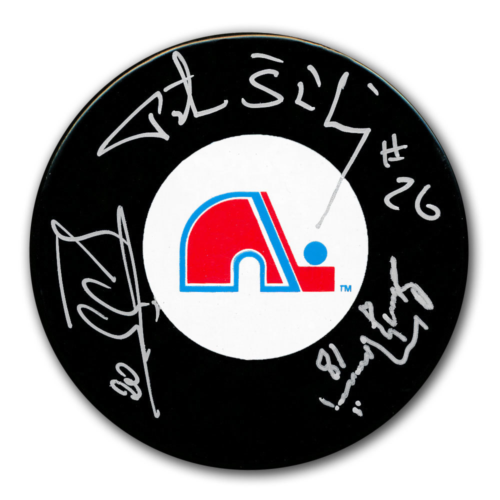 Peter Stastny, Anton Stastny & Marian Stastny Quebec Nordiques Autographed Puck