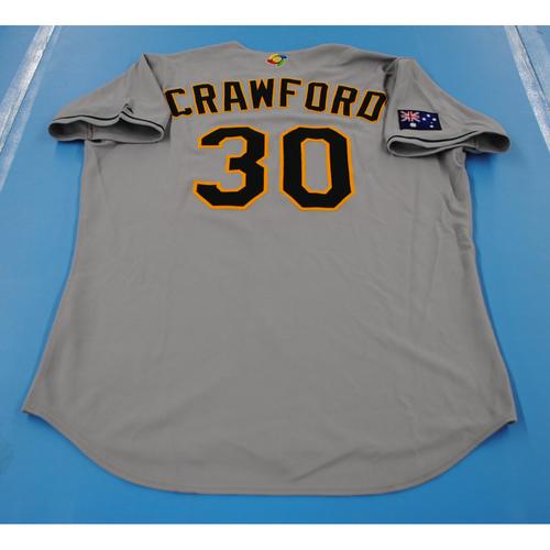 Photo of 2006 Inaugural World Baseball Classic: Tristan Crawford Game-worn Team Australia Road Jersey