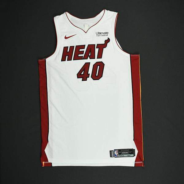Image of Udonis Haslem - Miami Heat - NBA Mexico Games - Game-Worn Association Edition Jersey - Dressed, Did Not Play - 2017-18 NBA Season