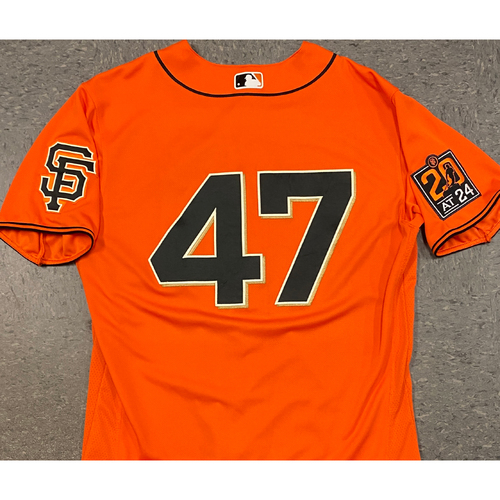 Photo of 2020 Team Issued Orange Home Alt Jersey - #47 Johnny Cueto - Size 46
