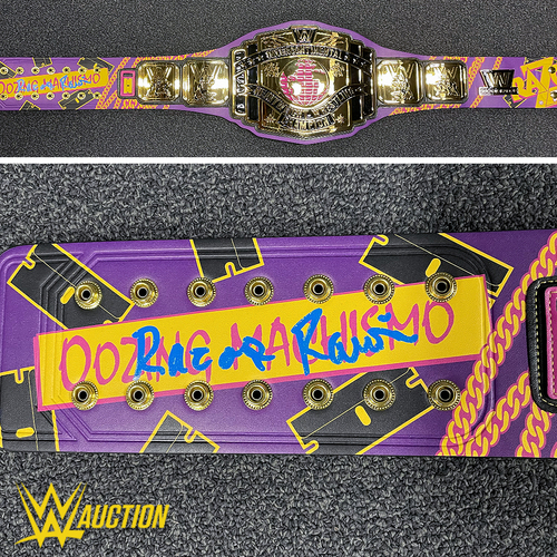 Photo of Razor Ramon SIGNED Signature Series Championship Replica Title