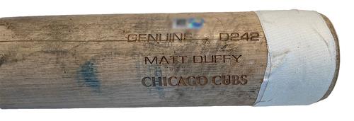 Photo of Matt Duffy Game-Used Cracked Bat -- Luis Cessa to Matt Duffy, Line Out, Bot 7 -- Reds vs. Cubs -- 9/6/21