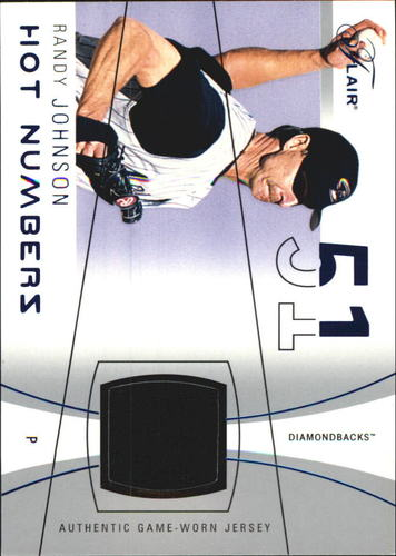 Photo of 2004 Flair Hot Numbers Game Used Blue #RJ Randy Johnson