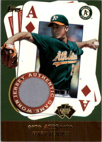 Photo of 2002 Topps 5-Card Stud Aces Relics #5AMM Mark Mulder Jsy