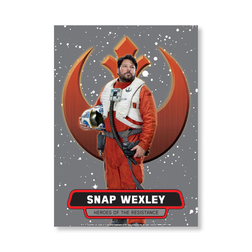 Snap Wexley 2016 Star Wars The Force Awakens Chrome Metal Poster - # to 99