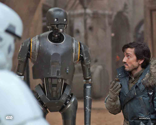 K2SO, Captain Cassian Andor and Jyn Erso