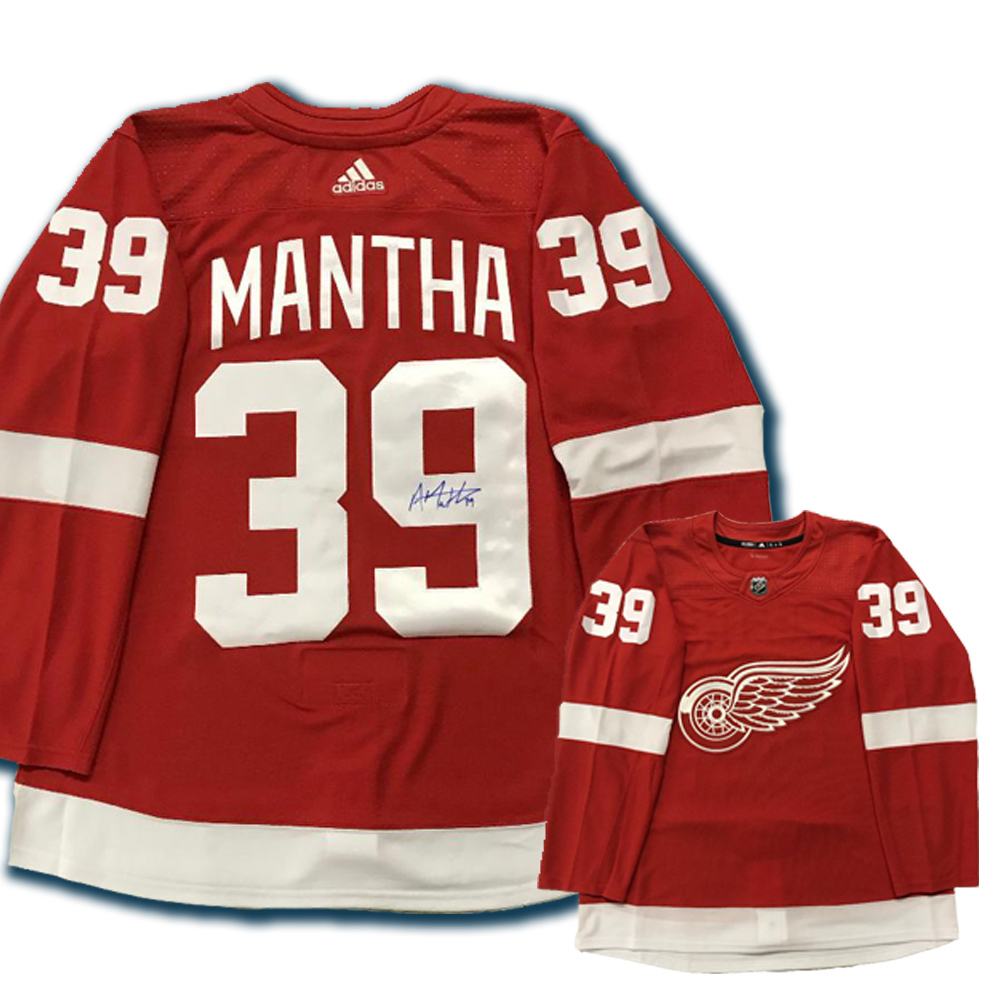 ANTHONY MANTHA Signed Detroit Red Wings Red Adidas PRO Jersey