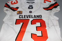 CRUCIAL CATCH - BROWNS JOE THOMAS GAME WORN BROWNS JERSEY (OCTOBER 8, 2017) SIZE 46