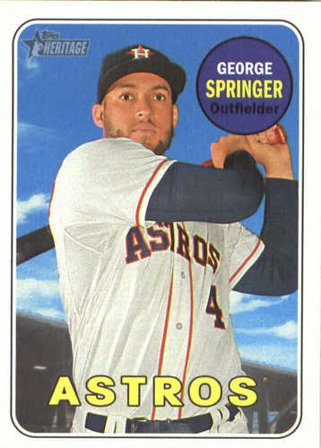 Photo of 2018 Topps Heritage #360 George Springer
