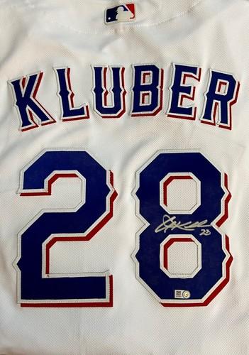 Corey Kluber Autographed Authentic Rangers Jersey