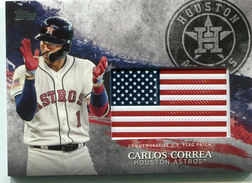 Photo of 2018 Topps Independence Day U.S. Flag Relics #IDMLCC Carlos Correa