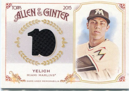 Photo of 2015 Topps Allen and Ginter Relics  Christian Yelich