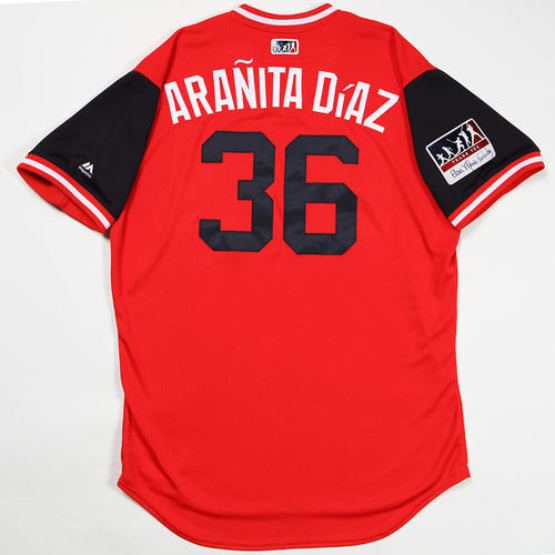 "Photo of Yandy ""Aranita Diaz"" Diaz Cleveland Indians Game-Used Jersey 2018 Players' Weekend Jersey"