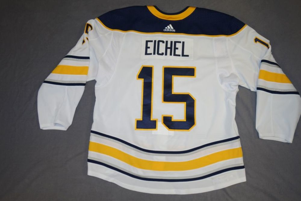 online store 99f87 a42c4 Jack Eichel 2017-18 Buffalo Sabres Game Worn Set 3 Away ...