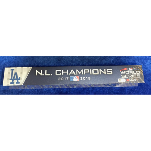 Photo of 2018 World Series Team-Issued Locker Tag, Small