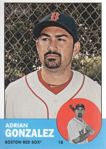 Photo of 2012 Topps Heritage #285A Adrian Gonzalez