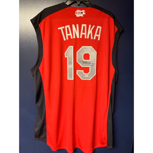 Photo of Masahiro Tanaka 2019 Major League Baseball Workout Day Autographed Jersey