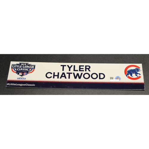 Photo of 2019 Little League Classic - Game Used Locker Tag - Tyler Chatwood,  Chicago Cubs at Pittsburgh Pirates - 8/18/2019