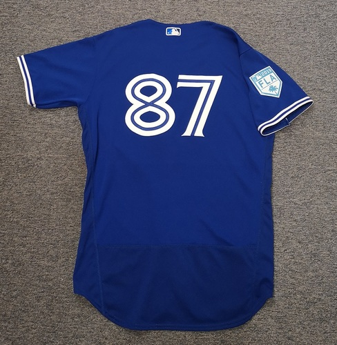 Photo of Authenticated Team Issued 2019 Spring Training Jersey - #87 Christian Williams. Size 46
