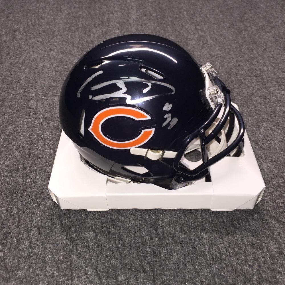 NFL - Bears Eddie Jackson Signed Mini Helmet