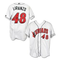 Photo of #48 Jesus Liranzo Autographed Game Worn Home White Jersey
